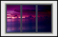 The Blue Hour Tryptych (Wilf41) Tags: ocean blue sunset sea beach water clouds thailand sand long exposure purple experiment le hour threesome phuket tryptych twighlight the cokin nd8 nd4 naiyangbeach