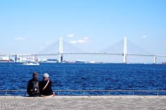 Happy V-day! (kana hata) Tags: sea japan landscape baybridge yokohama minatomirai rinkopark