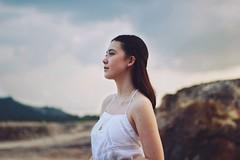 hopeful (chelseylaw_) Tags: portrait sky girl mixed model dress emotion profile calm piercing simplicity serene freckles braids hopeful