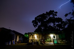 Backyard lightning (mrfuller) Tags: sky rain night backyard western lightning fremantle westernaustralia australiadsc08353