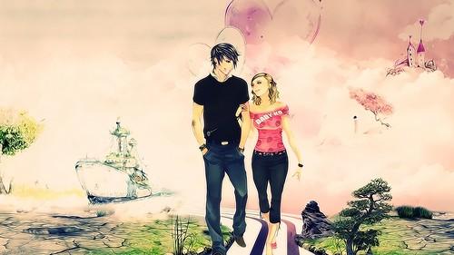 Lovely Couple Girl Boy Anime Love Hd Wallpaper Stylish Hd
