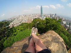 The best view over Taipei is from this hill at Elephant Hill!