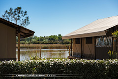 (Camping les sablons) Tags: camping sea mer holiday france beach vacances lodge plage campsite tente hrault mditerrane sablons