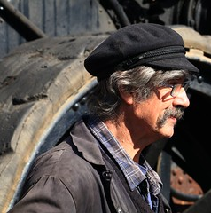 Steam engineer! (IMG_0126) (Robert G Henderson (Romari).) Tags: england museum beamish april steamfair codurham 2016