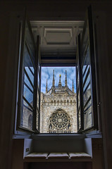 A Room with a View (Fil.ippo) Tags: camera milan building church window architecture view cathedral milano room gothic finestra duomo hdr filippo sigma1020 d7000 filippobianchi