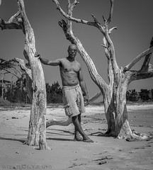 Selfie on Big Tallboy Island (tshabazzphotography) Tags: shirtless portrait bw male canon outdoors island photography big florida body driftwood jacksonville talbot physique selfie naturelover