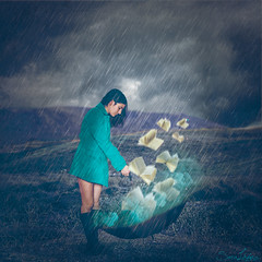 247/365 (Sariixa) Tags: blue selfportrait storm art me rain azul umbrella photomanipulation photoshop myself de photography countryside photo lluvia artist arte autoportrait smoke coat magic fineart yo autoretrato pluie books bleu brainstorming tormenta campo 365 libros autorretrato ideas paraguas humo photoart livres orage edit artista edicin parapluie magia selfie artphoto abrigo sarixa