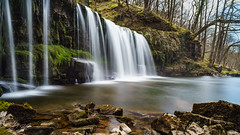 Ribbons (Karol P Drozd) Tags: longexposure light motion blur green nature water waterfall natural forrest ngc