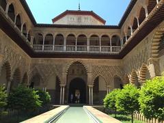 alcazar... (piera tedde) Tags: sevilla colore andalucia andalusia arco viaggio architettura spagna arabi giardino siviglia arabeschi