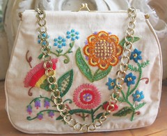 Vintage Crewel Embroidey Purse (profkaren) Tags: vintage embroidery purse 1970s handbag embroidered crewel