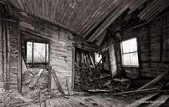 Quiet Corners & Empty Spaces (/ shadows and light) Tags: old windows bw house abandoned monochrome architecture rural countryside quebec decay slats derelict decayed gould collapsing ruralexploration rurex lingwick trixgrain lucpatricshouse
