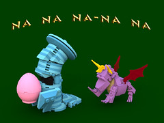 Spyro the Dragon - Na na na-na na (bradders1999) Tags: game classic station digital vintage project fire one 1 video support play dragon lego dragonfly designer egg barrel games retro gaming fairy fantasy ps1 theif videogame hunter portal vote ideas playstation insomniac sparx spyro moc ldd purist rhynoc