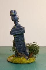 Statue for Warhammer Fantasy Battle (Anxious Silence) Tags: fantasy miniature model modelmaking ruin scenery statue wargaming warhammer