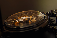 Time is on may side.... (nicoheinrich86) Tags: light brown macro reflection up close time watch nik transparent braun glas zeit uhr taschenuhr zeiger unruh uhrzeit lcht nikcollection