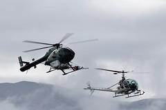 Hughes and Hiller (GJC1) Tags: morning misty dawn g helicopter 500 wanaka hughes hiller mcdonnelldouglas airdisplay warbirdsoverwanaka gjc1 wanakaairport uh12e geoffcollins