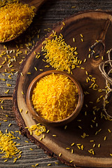 Raw Organic Yellow Saffron Rice (brent.hofacker) Tags: food nature yellow recipe asian cuisine gold golden vegan healthy italian mediterranean raw dish rice indian traditional spice grain plate gourmet delicious meal organic diet tradition cooked aromatic saffron nutrition nutritious scented ingredient starch uncooked pilaf nutritional saffronrice longgrainrice