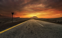 Focus on your way (zaid.sp14) Tags: street sunset sky mountain way nikon desert saudi arabia riyadh d610 dirap riyadhprovince