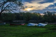 DSC_1109 edited (pattyg24) Tags: wisconsin sunrise landscape canoes horicon rockriver playfulgoosecampground