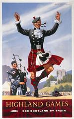 Highland Games poster, 1948-1965. (Sutherland Pipes and Drums) Tags: poster scotland dance kilt unitedkingdom tartan ecosse jeux highlandgameshighlandssportbagpipesmusickiltrailway