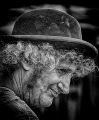 Character in the crowd (Andy J Newman) Tags: street portrait england nikon unitedkingdom candid fair steam gb hdr d7100 silverefex hdrefex