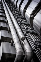 Pipework (ShrubMonkey (Julian Heritage)) Tags: city urban building london architecture metallic steel pipes a7 pipework lloydsoflondon 1limestreet