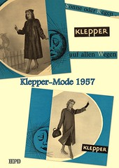 Kleppermode 1957 (hpdyko) Tags: 1957 raincoat klepper regenmantel kleppermantel kleppermode