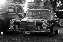 Seen on a nightwalk in Vienna (PIXXELGAMES - Robert Krenker) Tags: vienna wien light blackandwhite black classic monochrome beautiful car dark nice classiccar snapshot wheels free chrome fujifilm oldcar blacknwhite shining fujinon bnw biancoenero 1655 xt1