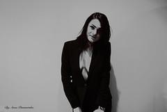 (Photo By Pisminetska) Tags: people blackandwhite white sexy beautiful smart suit ukrainian blazer exposed