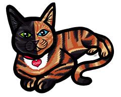 venus (telly negotrpica) Tags: venus cara kitty dos gato rubia gata negra gatita taby doscaras