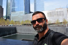 During the flight connection in NY. Fun! (Billy W Martins ) Tags: nyc newyorkcity ny newyork sunglasses beard fun glasses spring nikon worldtradecenter wtc groundzero springtime selfie southpool d7100 oneworldtradecenter