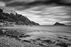 Keeping watch (Collingwood505) Tags: longexposure sea blackandwhite beach monochrome rock clouds blackwhite devon coastline torquay silky thatcher kilmorie