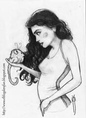 mirndose (rafanav) Tags: lpiz dibujo boceto mujer pelo chica rafa navarro art