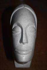 Stoneface (Dave 'FBI' Gibbons) Tags: sculpture stone face sam bell carve marble soapstone art 3d
