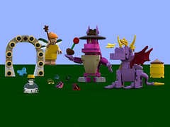 Spyro the Dragon - Main picture 2 (bradders1999) Tags: game classic station digital vintage project fire one 1 video support play dragon lego dragonfly designer egg barrel games retro gaming fairy fantasy ps1 theif videogame hunter portal vote ideas playstation insomniac sparx spyro moc ldd purist rhynoc