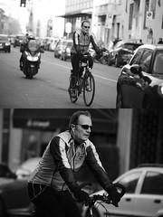[La Mia Citt][Pedala] (Urca) Tags: portrait blackandwhite bw bike bicycle italia milano bn ciclista biancoenero bicicletta 2016 pedalare dittico 85572 ritrattostradale nikondigitalemir