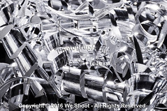 Aluminum Spirals (weeviltwin) Tags: scrap scraps shaving shavings aluminum metal spiral shred shreds shard shards silver silvery metallic recycle recyclable business industry industrial weshootcom