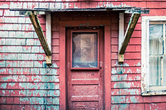 Red Door, Ketchikan, Alaska (Lee Edwin Coursey) Tags: 2016 alaska katchikan ketchikan uncruise unitedstates adventure cruise door landscape nature red shingles town travel
