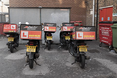 pizza delivery dispersal - walthamstow (chirgy) Tags: orange london waiting 5 l ready moped e17 walthamstow aflight