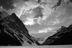 Lake Louise (ryan.kole32) Tags: travel blackandwhite lake canada nature monochrome beauty landscape rockies outdoors nationalpark hiking sony alberta banff rockymountains lakelouise banffnationalpark canadianrockies banffalberta beautyinnature sonya77