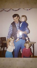 Ted Whitaker, Stacie Whitaker, Carrie & Jenny Farren (photosbysusan!) Tags: stacie dad jenny carrie 198612