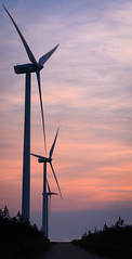 Pubnico Windmills (mdentremont) Tags: novascotia nikon sunset water d5500 oceanscape clouds atlantic road windmills silhouette outdoor sea seascape sky canada red coast marine pubnico middlewestpubnico ca