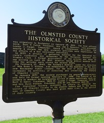 The Olmsted County Historical Society Marker (Rochester, Minnesota) (courthouselover) Tags: minnesota mn historycenterofolmstedcounty olmstedcounty rochester minnesotahistoricalmarkers northamerica unitedstates us