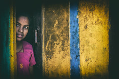 Colors of Life (Vilvesh) Tags: light boy portrait people bw colors girl monochrome smile kids canon photography 50mm eyes village chennai tamilnadu cwc environmentalportrait canon50mm chennaiweekendclickers chettipuniyam hanumanthapuram