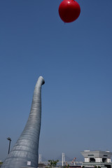 (naitokz) Tags: blue sky elephant art japan nose balloon yokohama  installationart        zounohanapark  zounohanaterrace