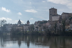 Cahors (Gregouill) Tags: 2016 201601 cahors hdr janvier rivire tour