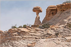 Escalante - distant balanced rock (TT_MAC) Tags: erosion highdesert mesa rockformation grandstaircaseescalantenationalmonument utahusa balancingrockformation