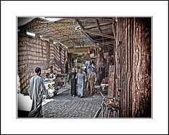 entering the souk in marrakesh, morocco. (raymondstewart1) Tags: travel colour ray very you culture morocco souk much marrakesh hank