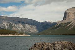 Minnewanka (Chris @ Didcot) Tags: mountain lake canada water rockies banff lakeminnewanka