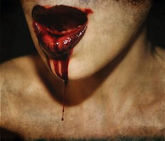blood test (ross-sfx) Tags: girl face mouth blood model lips bocca sangue sfx labbra effettispeciali sanguefinto