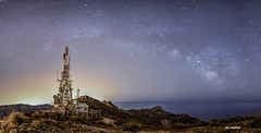 mobile telephony (jopas2800) Tags: sea rock stars landscape spain nocturna montain mediterrneo milkyway mobiletelephony tokina1628 nikond610